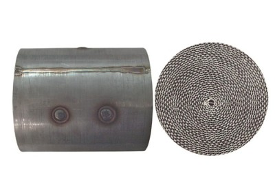 Particulate filters of micro-perforated steel